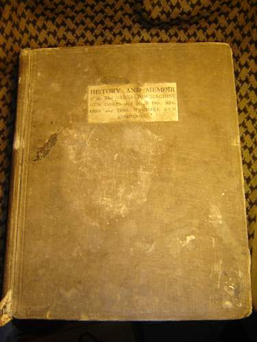 Book saved from destruction limited edition MGC battalion history