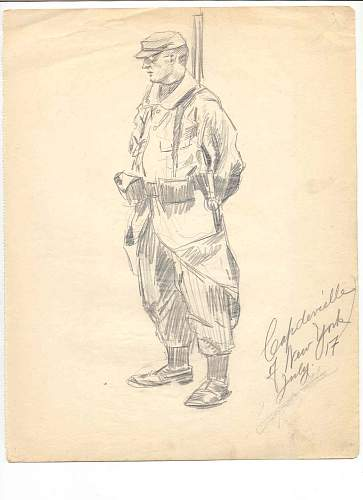 American artist in French Foreign Legion