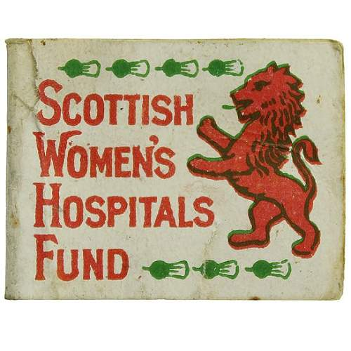 WW1 Scottish Charity and fundraising pins