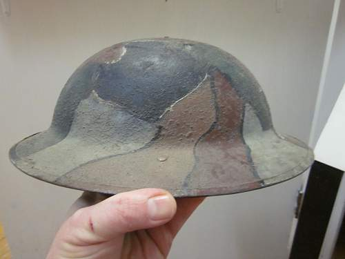 WW1 British Canadian camo helmet