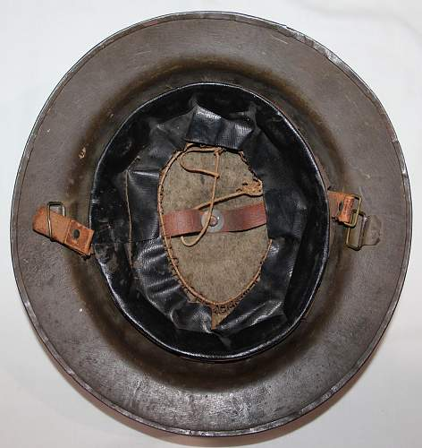 WWII M1917 Camouflage 34th Division Engineer Helmet