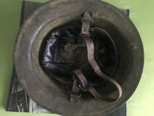 WW1 Captured M1917 helmet found in germany