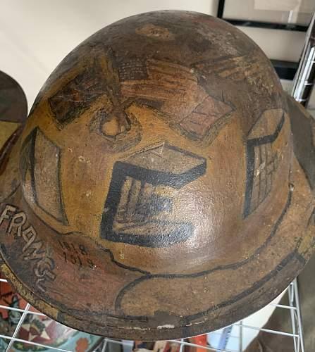 WW1 Souvenir painted Helmet.