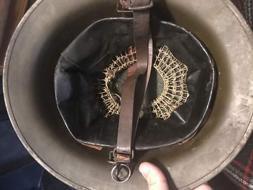 M1917 helmet questions.