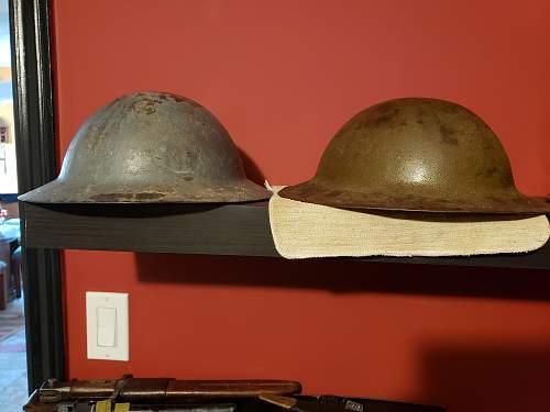 British mk1a rimless Brodie helmet