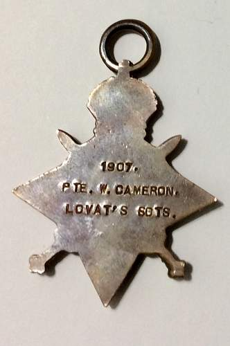 1914-15 star medal help on name research