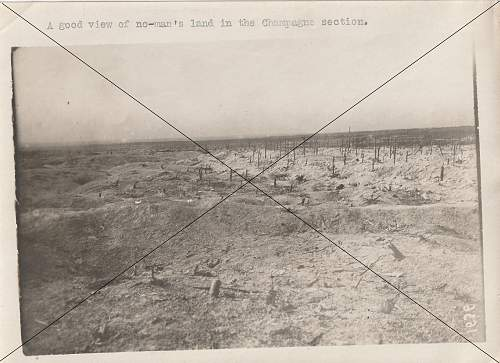 My WW 1 Pre and post artillery barrage pic's.