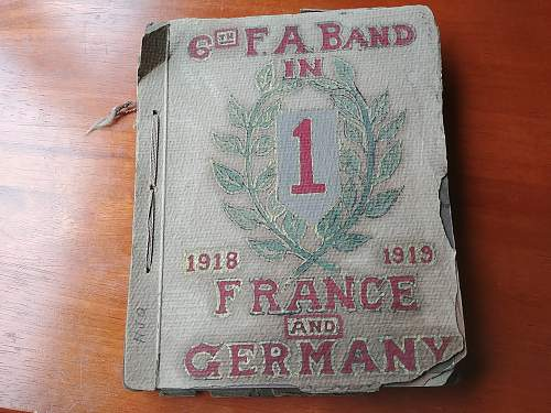 WWI incredible photo album big red one