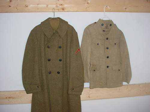 Church donation great coat and uniform