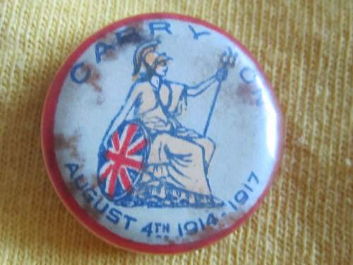 WW1 Patriotic Badge?