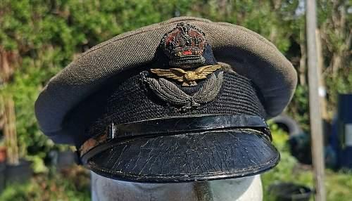WW1 RFC RAF Officers Visor Cap