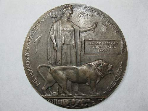 WWI Death plaque