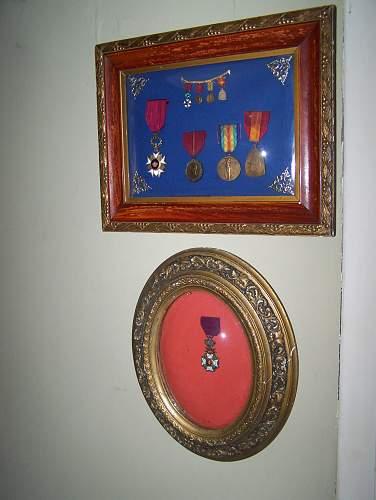 belgian medal group found on a flea market