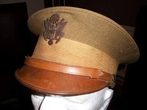 WW1 US army officers cap?