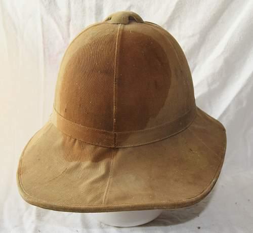 1917 wolseley sun helmet