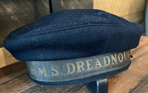 I'd like some opinions from the experts on this HMS Dreadnought Navy Cap...