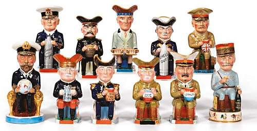 Military related Toby jugs.