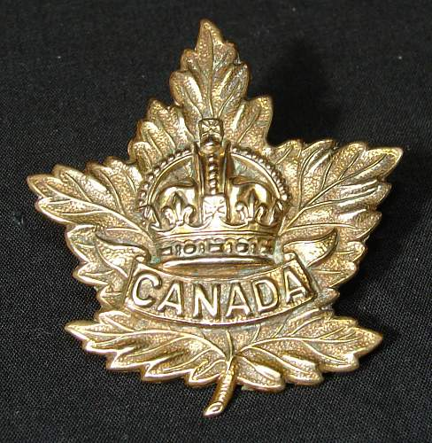 Possibly Uncommon WW1 Canada Hat Badge, What do I have?