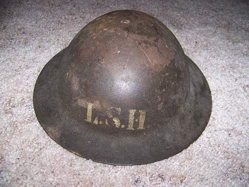 Lord Strathcona Horse Canadian mounted MkI helmet, what do I have here?
