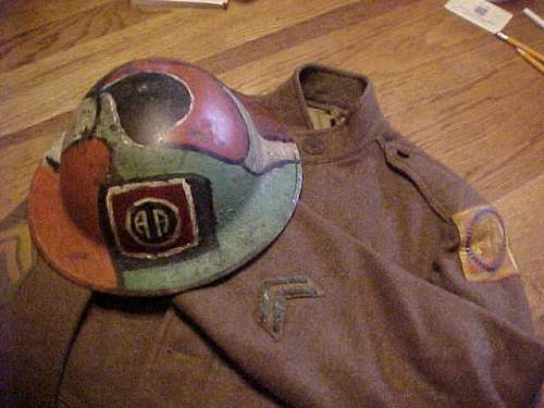 WWI 82nd Div. helmet and tunic