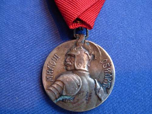 Serbia the bravery medal wwi