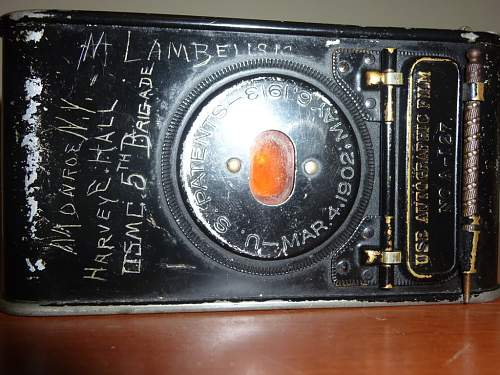 A Camera possibly used in WW1 with etchings, and user's name