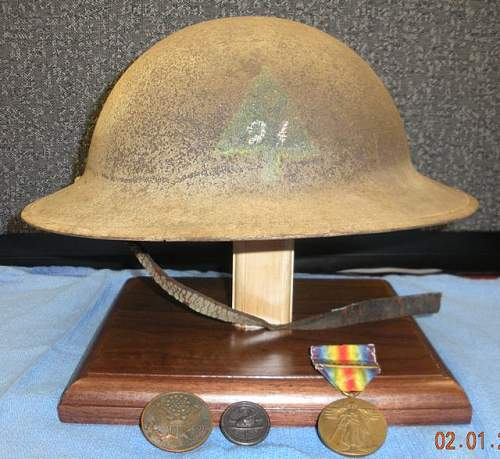 Click image for larger version.  Name:WW1 - Helmet - 91st - 1.jpg Views:1407 Size:78.1 KB ID:175552