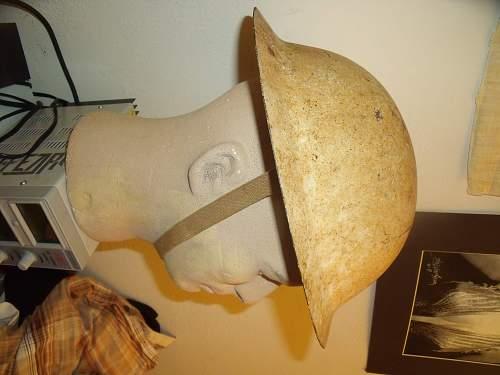 ww1 doughboy helmet? winter camo?