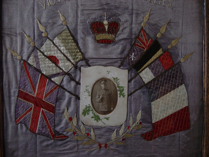 Royal Artillery sweetheart embroidery
