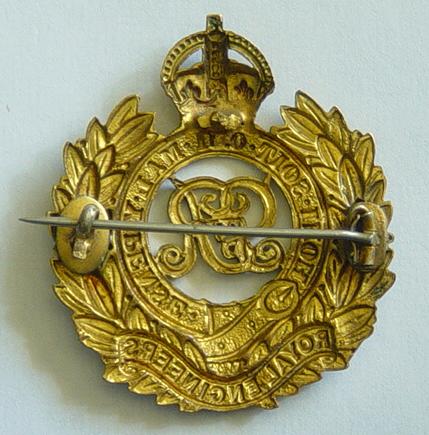 Royal Engineers cap badges