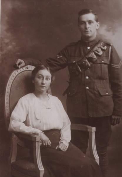 Click image for larger version.  Name:Grandma & Grandad. Photo taken 1918..JPG Views:203 Size:61.2 KB ID:18461