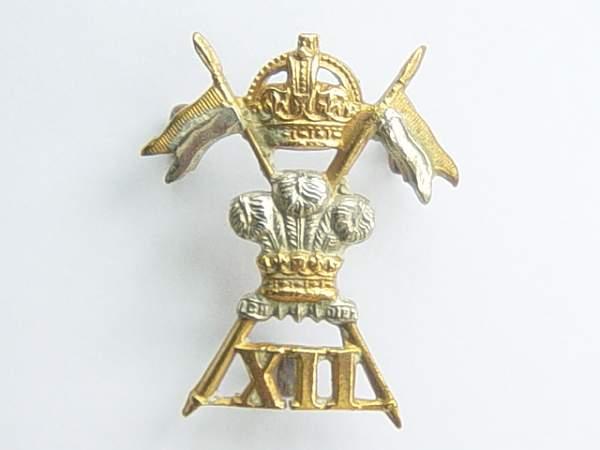 12th Royal Lancers collar dog