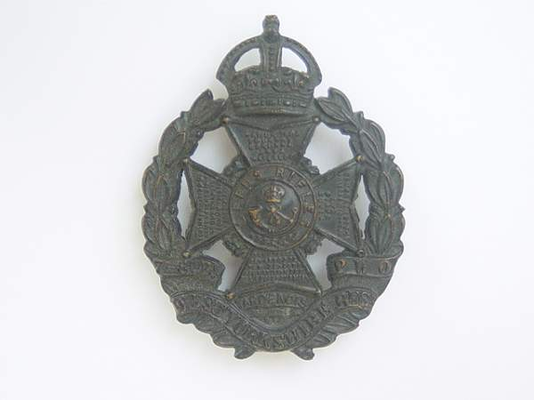 Click image for larger version.  Name:The West Yorkshire Regiment (Prince of Wales's Own) 8th Leeds rifles cap badge.jpg Views:737 Size:129.3 KB ID:18948