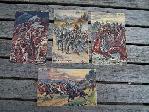 Tuck post cards and others.