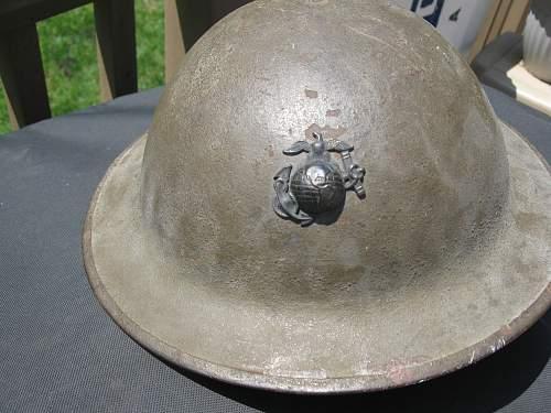 Click image for larger version.  Name:ww1 USMC Helmet 001.jpg Views:1076 Size:256.3 KB ID:214131