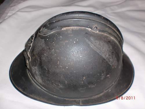 WWI French m15 helmet