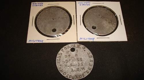 WW1 U.S. Dog Tags
