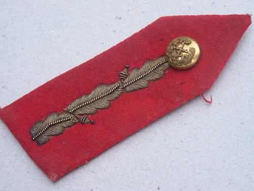 British general collar tab