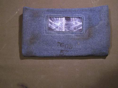 Early WW1 British Cloth Gas Mask - Has anyone got one ?