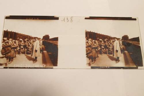 WWI French Glass Photo Slides with Viewer