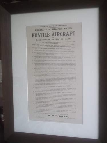 1916 Hostile Aircraft Poster