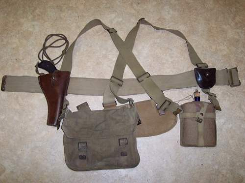 WW1 British Machine Gunners 08 Pattern webbing belt equipment