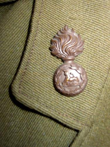 Lancashire fusileer officers 1917 pattern service dress jacket with double brace sam browne