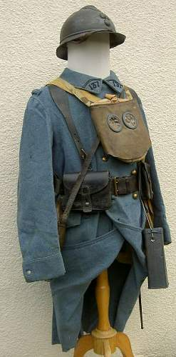 French army infantryman, 137th  ligne, verdun, 1916