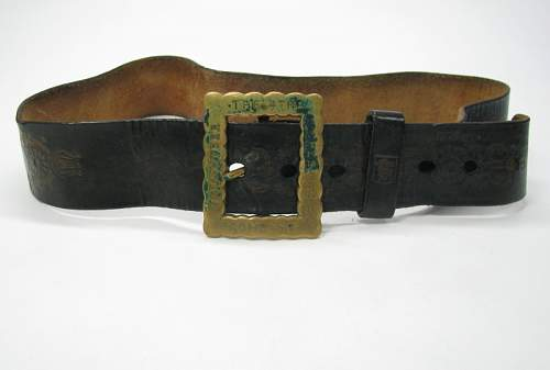 4th Cheshires belt buckle