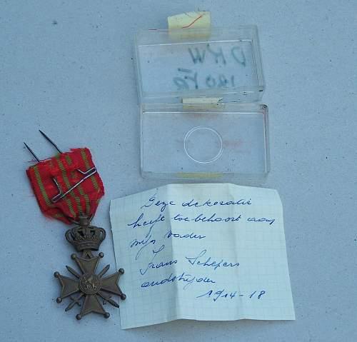 WW I common Belgian medal, but....
