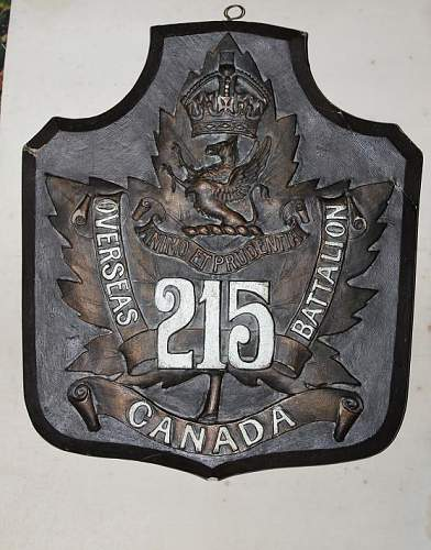 215th Canadian Battalion plaque