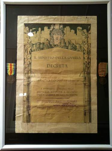 WWI Italian Medal Group