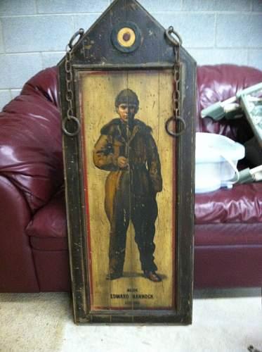 WWI Pilot Wooden Paintings