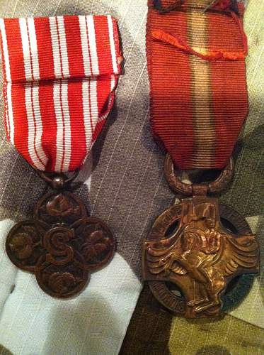 Czech WWI medals